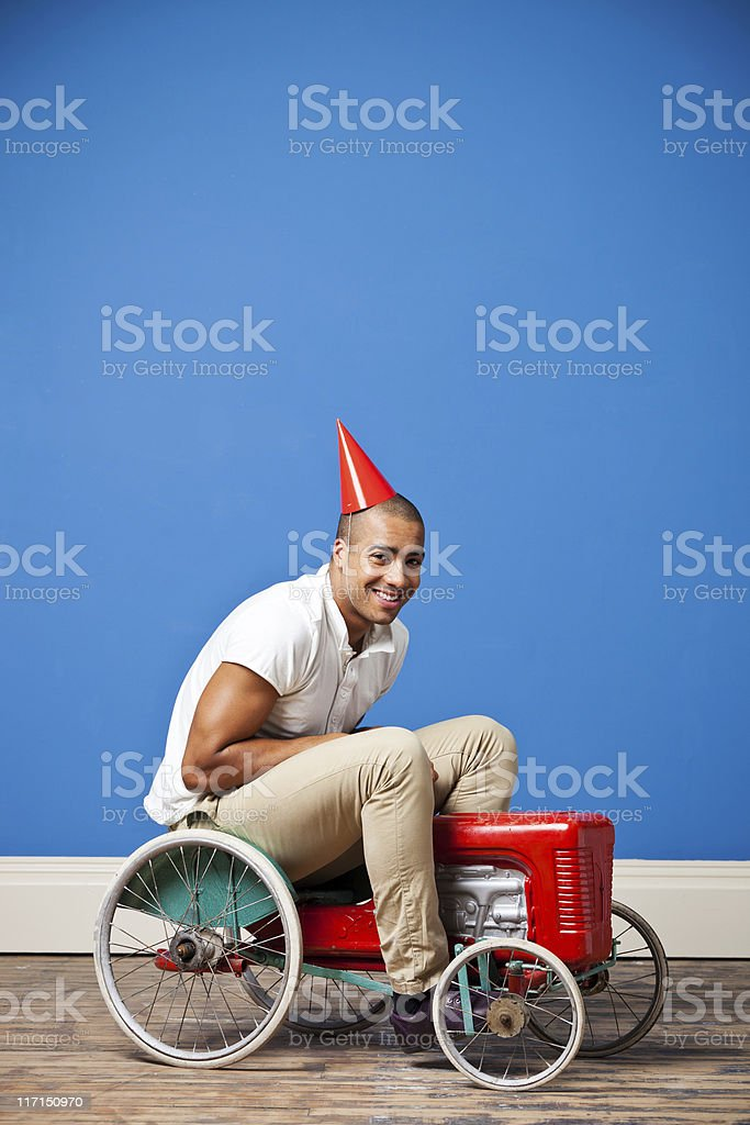 Party On A Tractor royalty-free stock photo