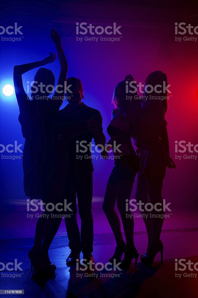 Party on dance floor royalty-free stock photo