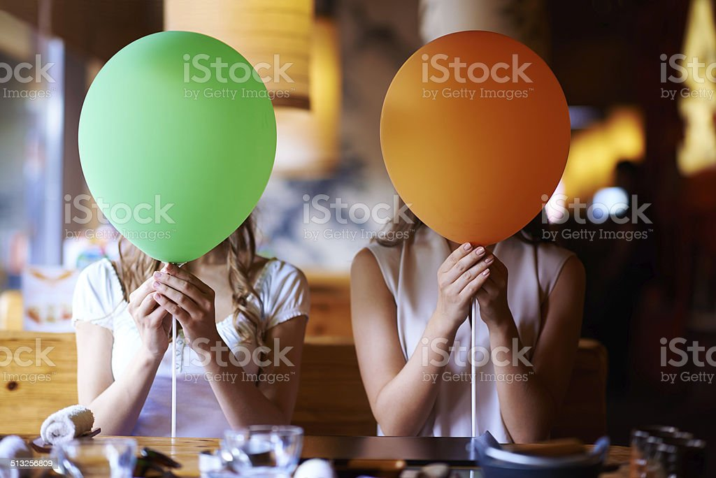 Party on my mind stock photo