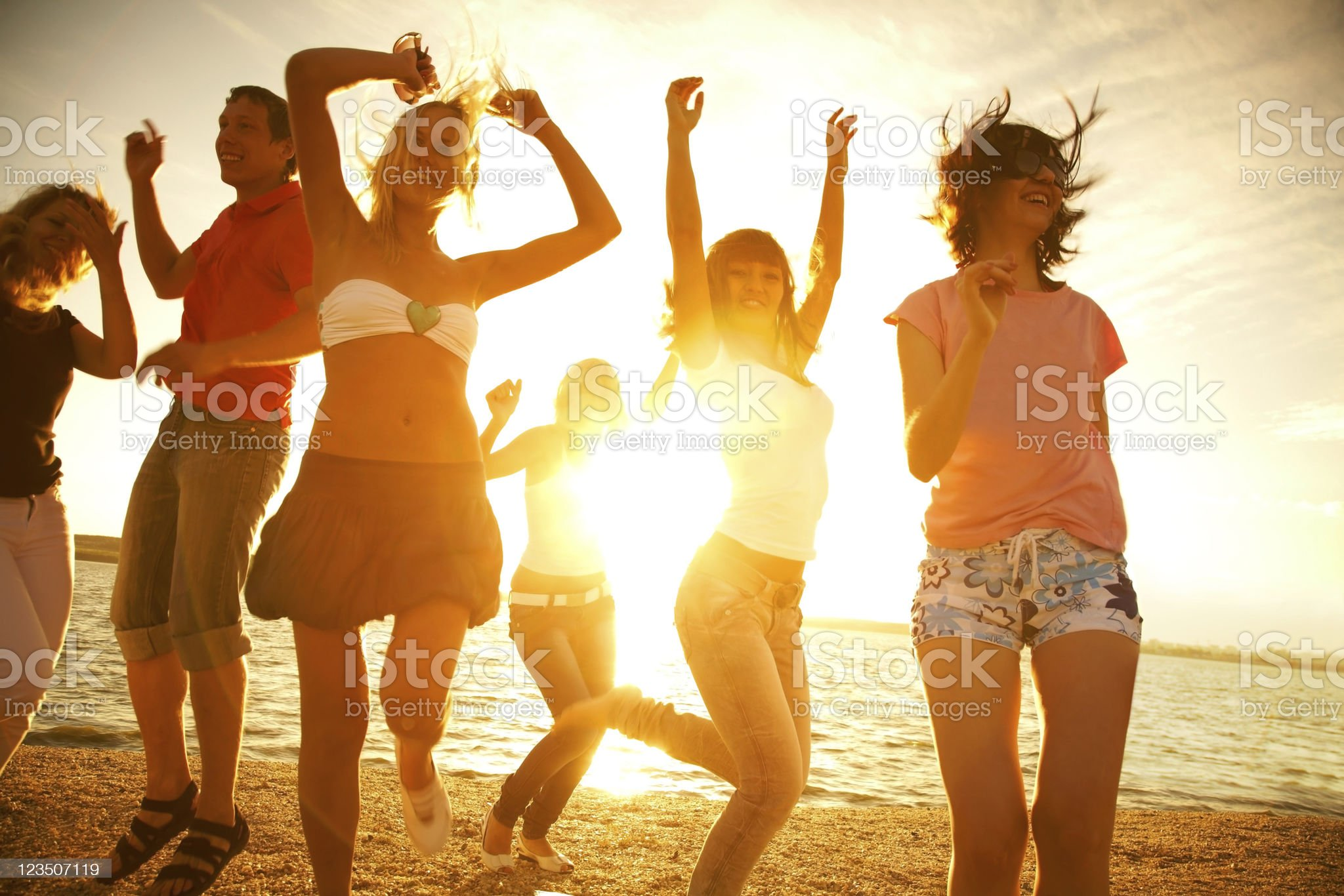 Party on the beach royalty-free stock photo