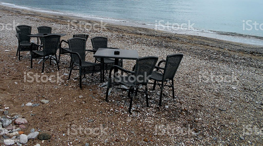 Party on the beach stock photo