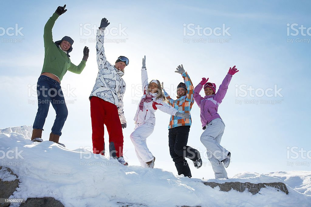 Party on winter vacation royalty-free stock photo