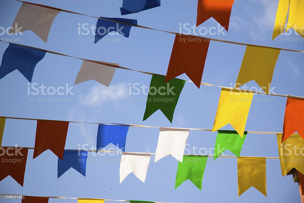 Party pennants royalty-free stock photo