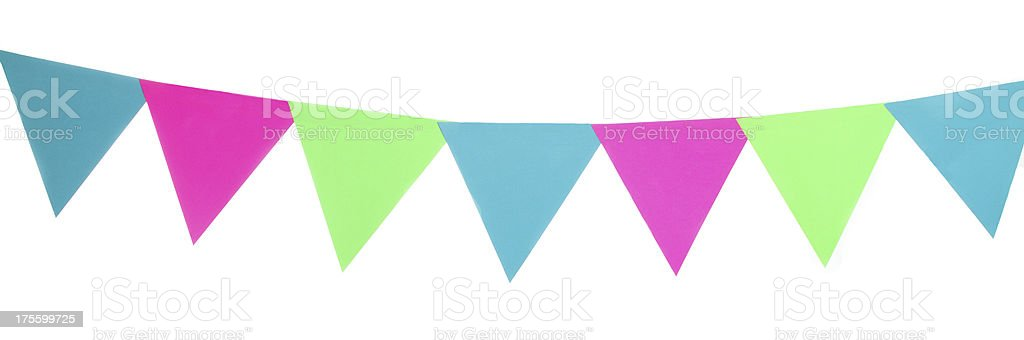 Party Pennants stock photo