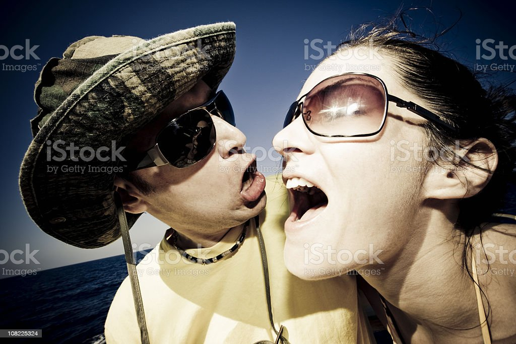 Party People Couple Candid Portrait royalty-free stock photo