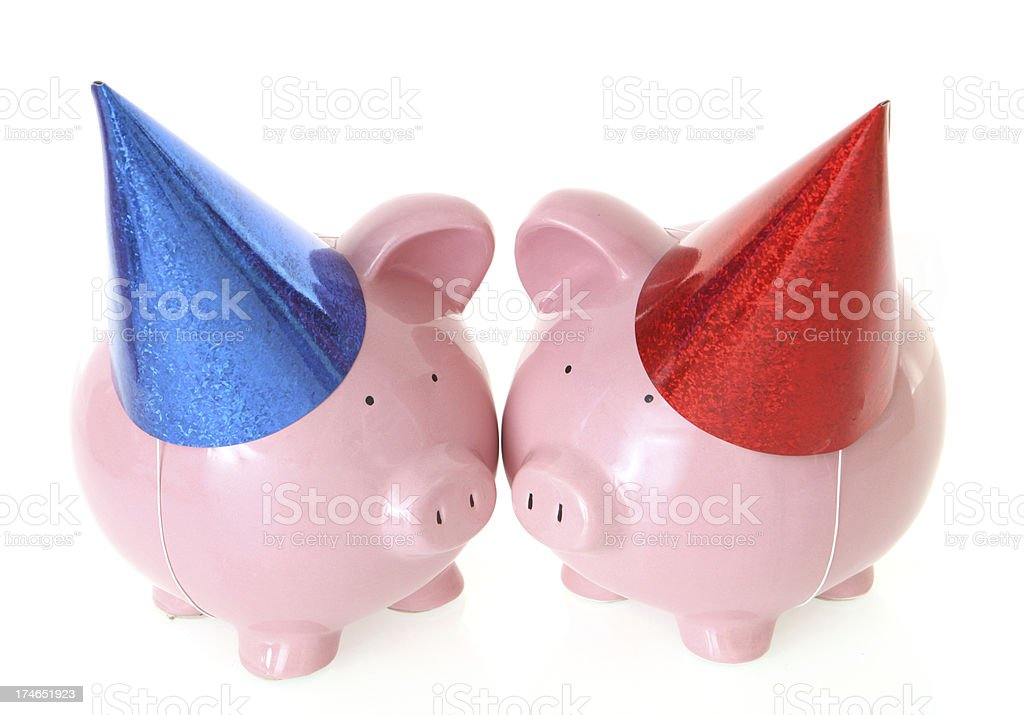 Party Pigs royalty-free stock photo