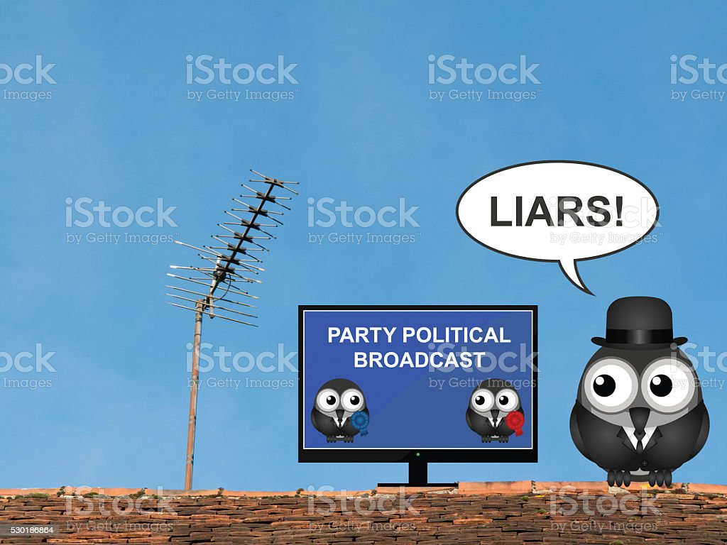 Party Political Broadcast stock photo