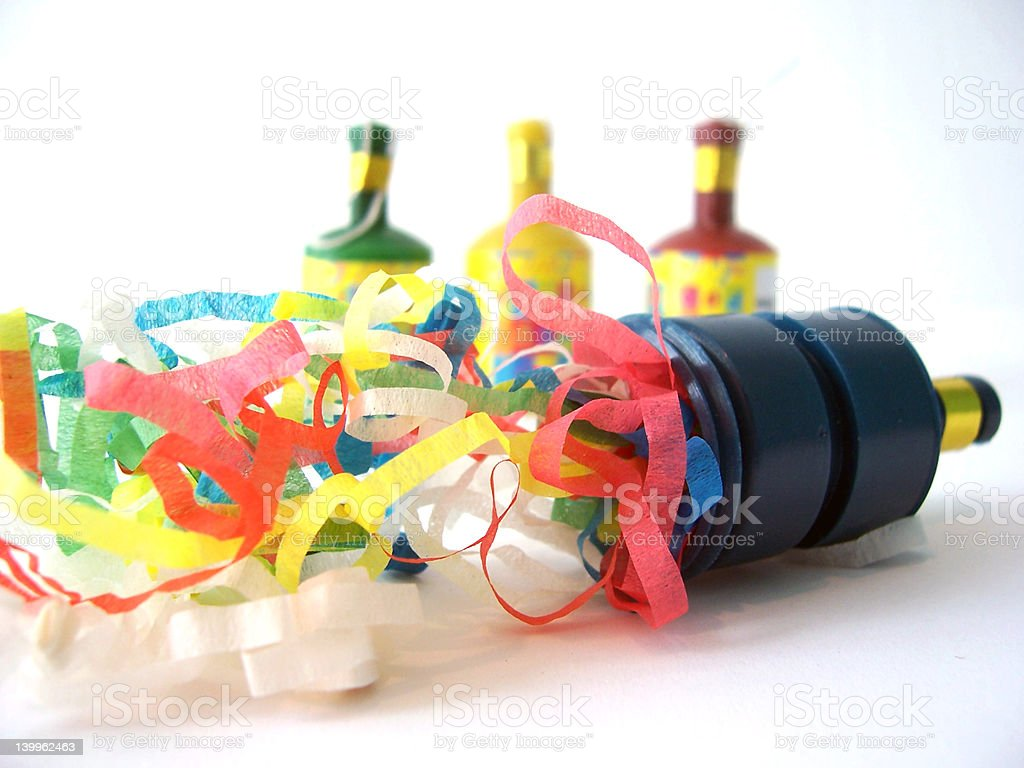 Party Popper Blue stock photo