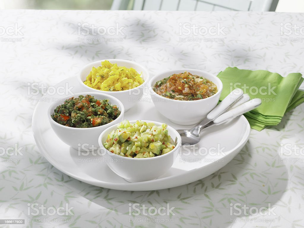 Party Salsas royalty-free stock photo