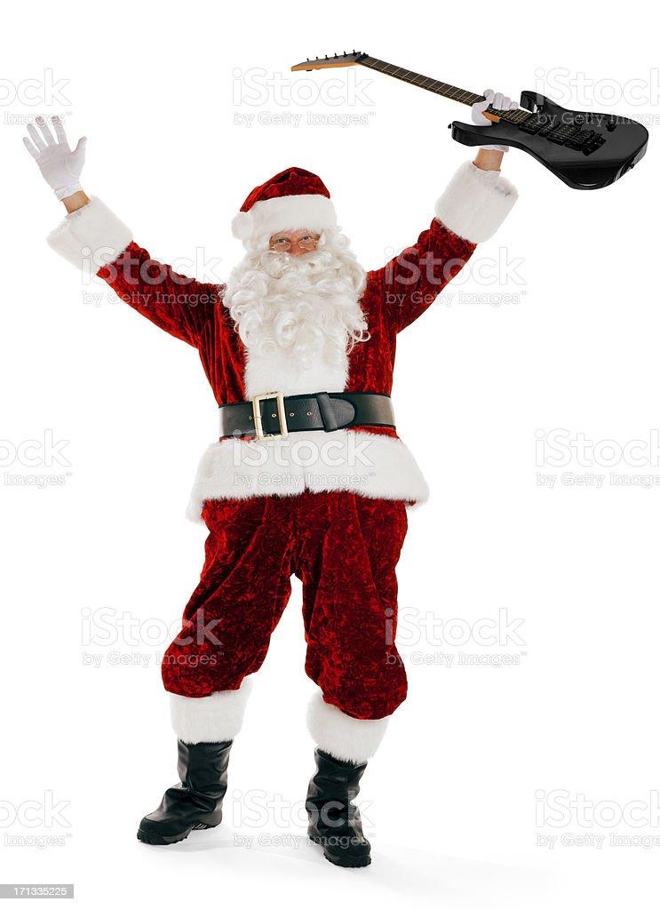 Party Santa Claus on White royalty-free stock photo