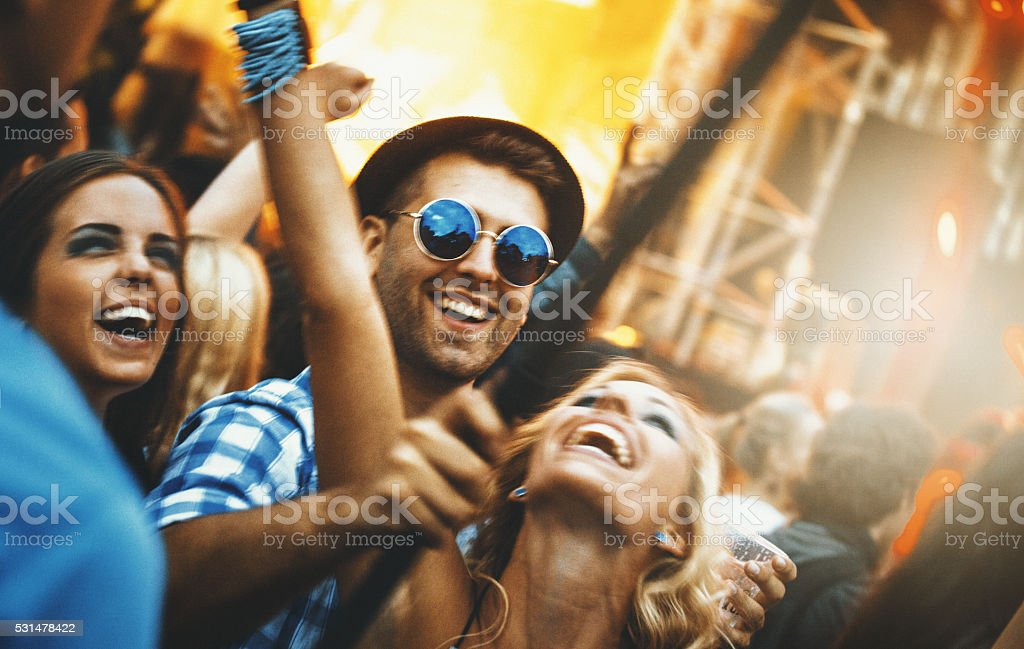 Party selfie. stock photo
