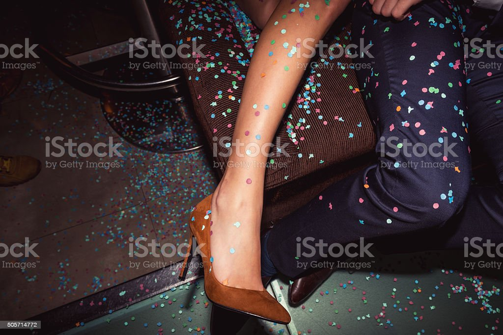 Party shoes stock photo