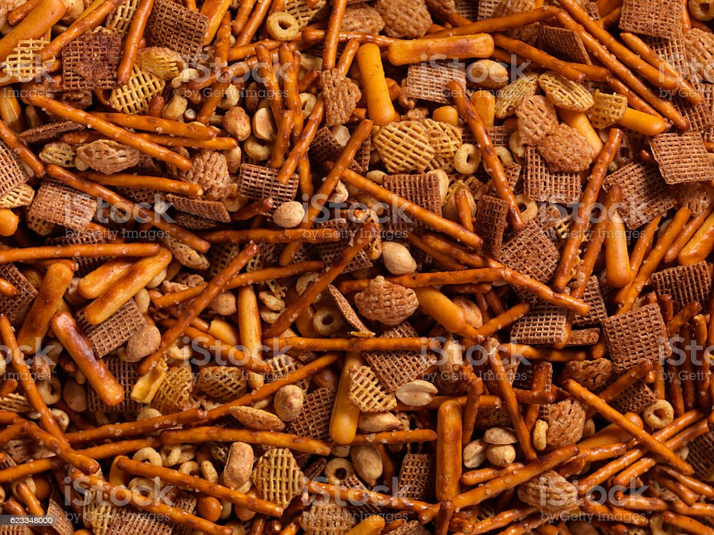 Party Snack Mix stock photo