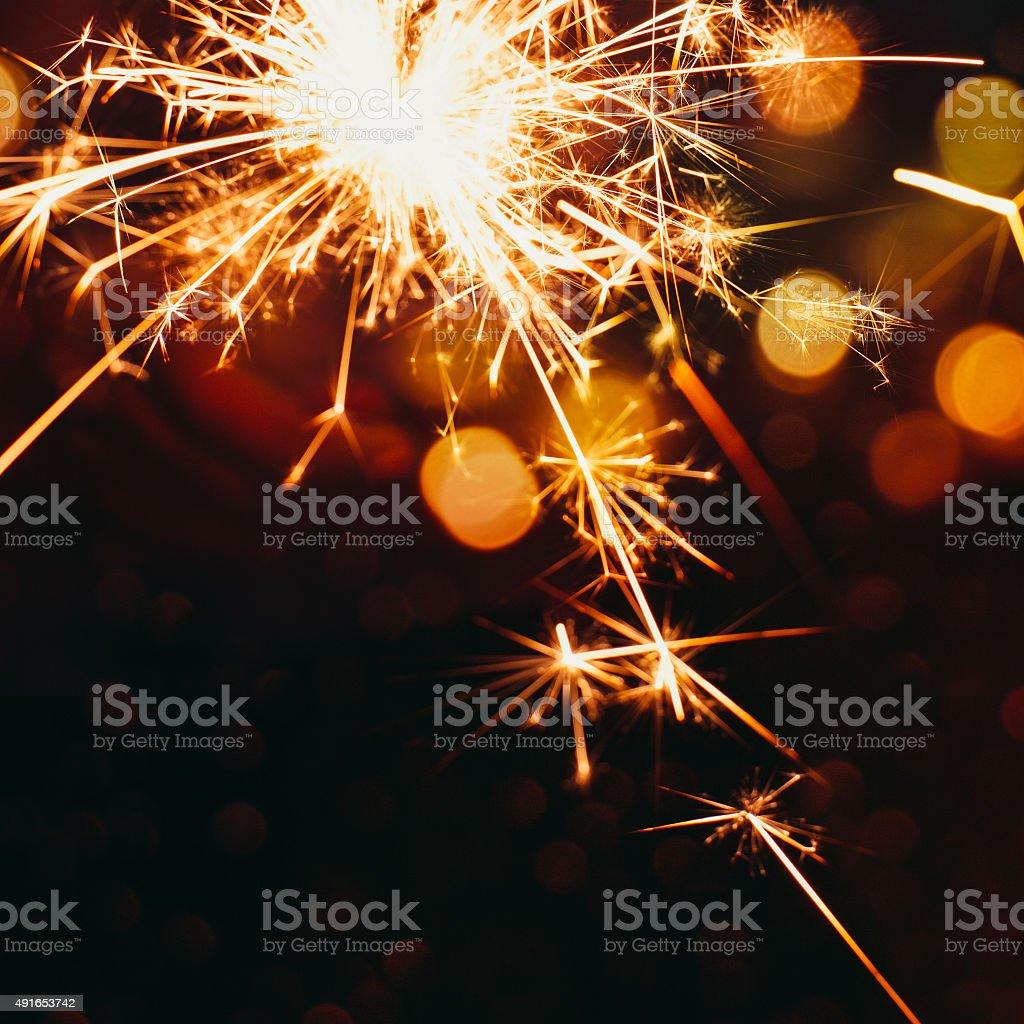 Party sparkler background stock photo