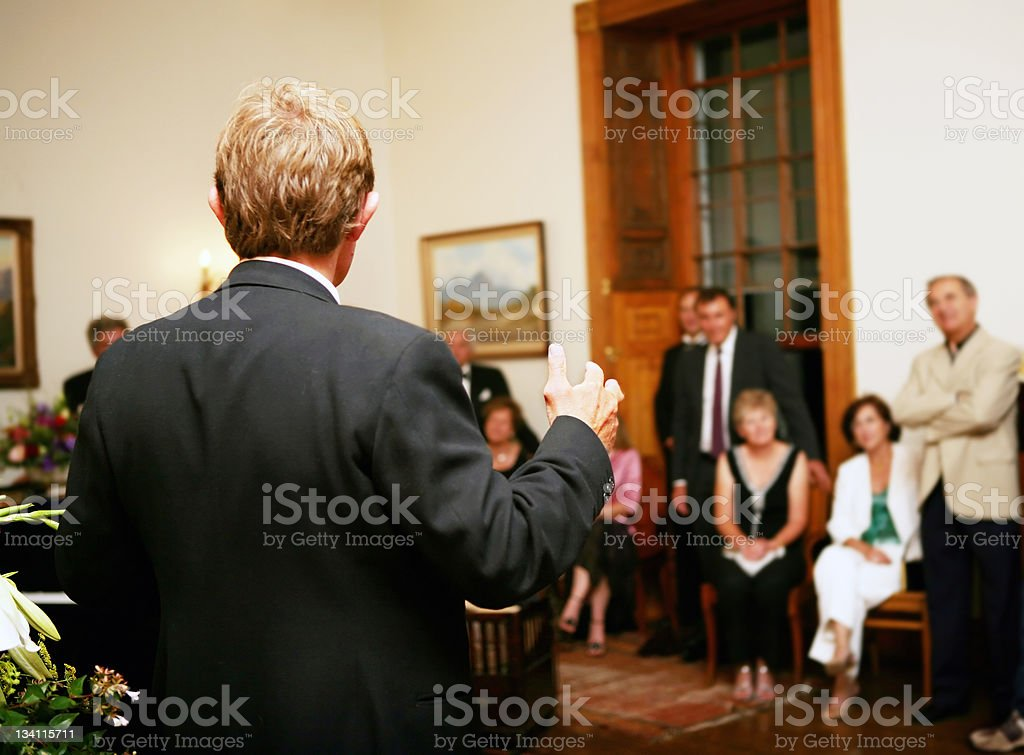 Party speech royalty-free stock photo