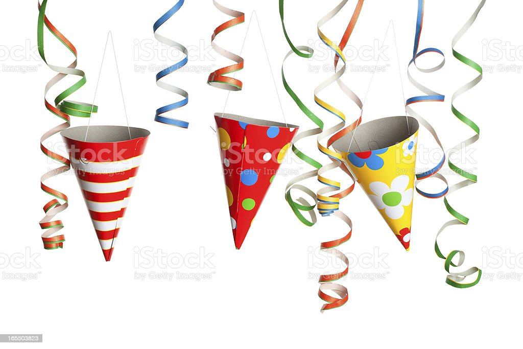 Party - Streamers and Hats royalty-free stock photo