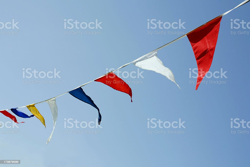 Party streamers stock photo