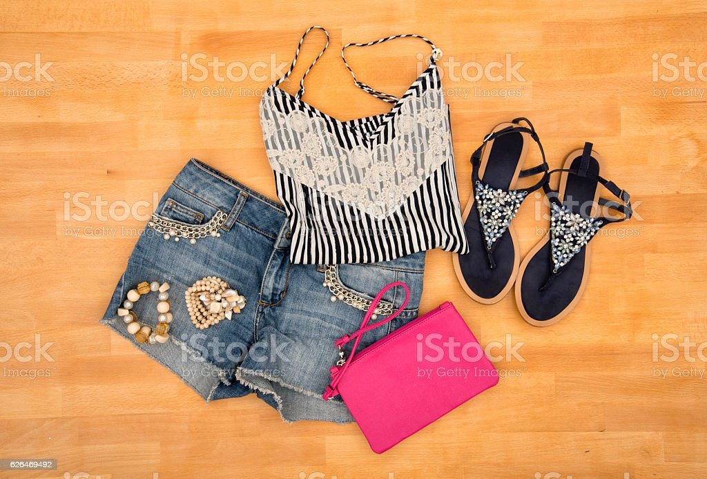Party summer outfit stock photo