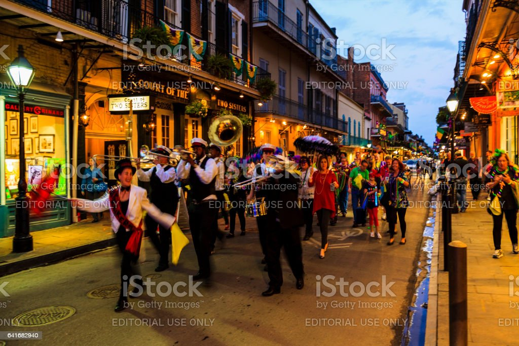 Party Time in New Orleans USA . stock photo