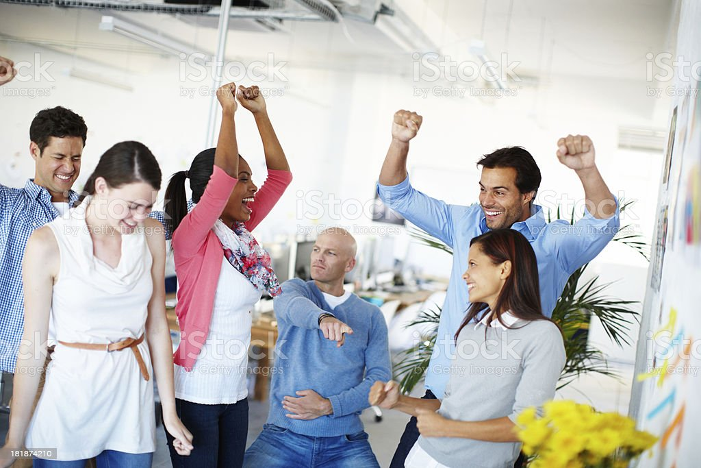 Party time in the office stock photo