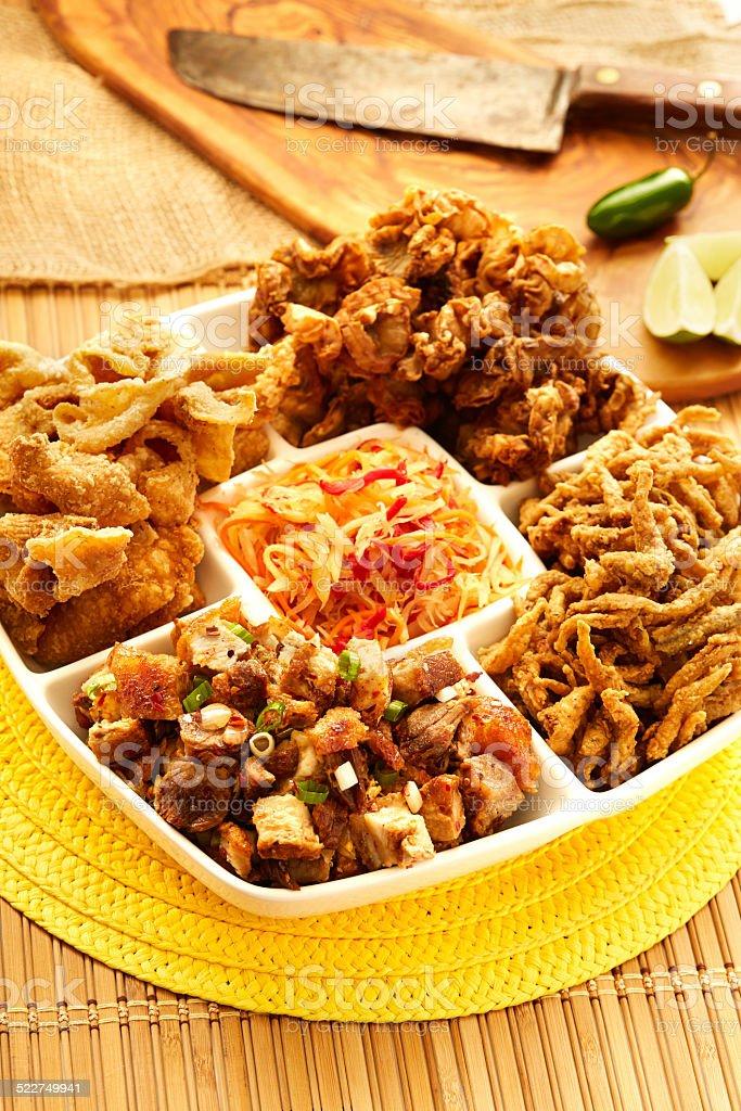 Party Tray filipino food stock photo