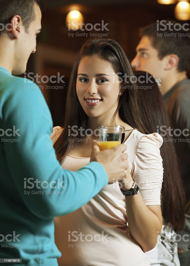 Party with friends royalty-free stock photo