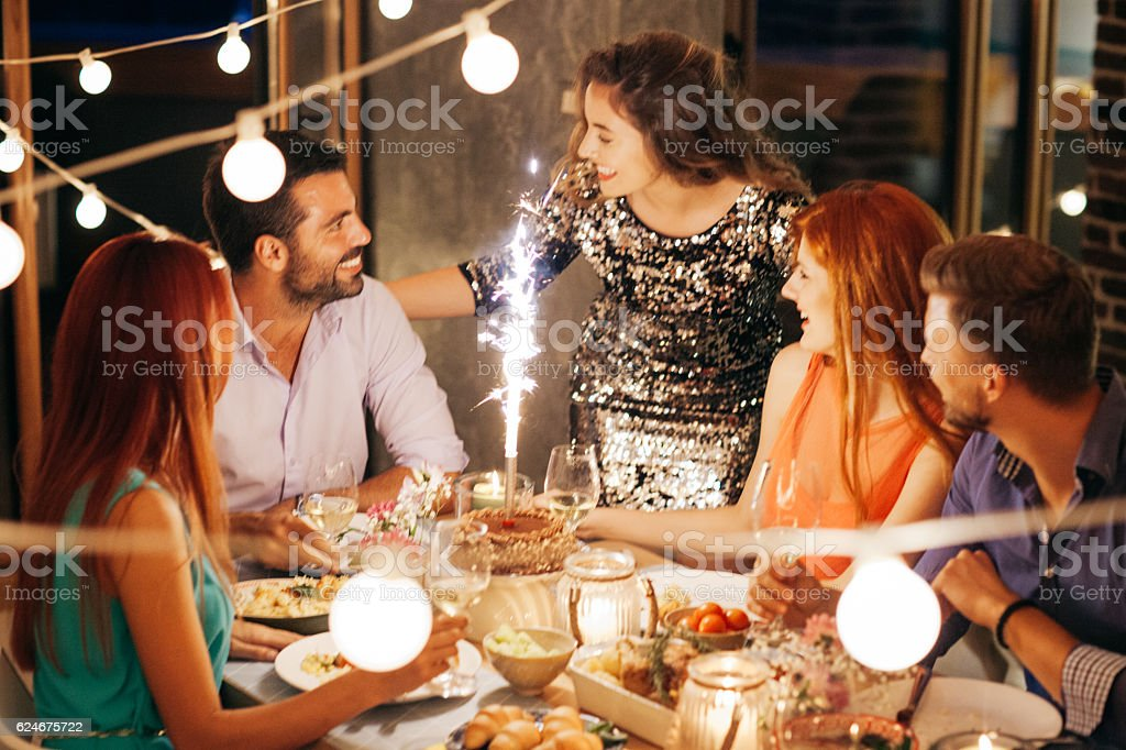Party without cake is just a meeting stock photo