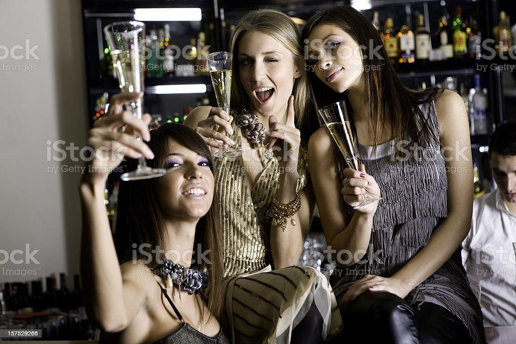 Party women royalty-free stock photo