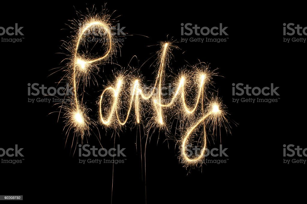 party word sparkler royalty-free stock photo