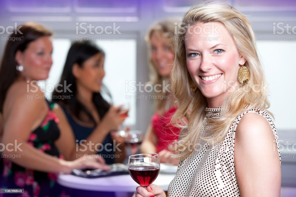 Partygirl portrait royalty-free stock photo