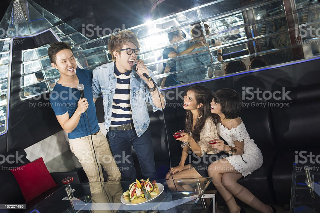 Partying friends royalty-free stock photo