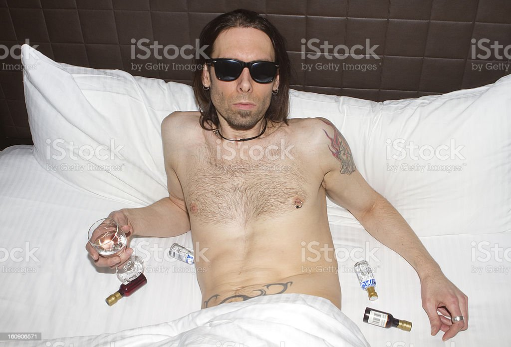 Partying Hard royalty-free stock photo