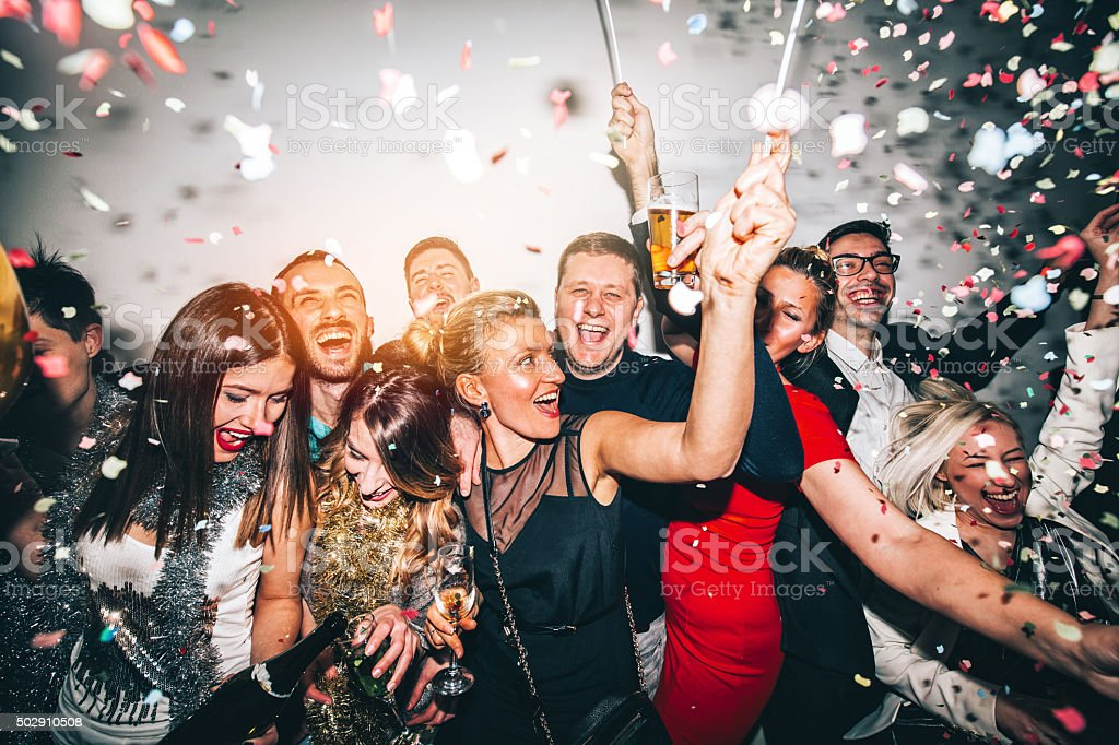 Partying hard! stock photo