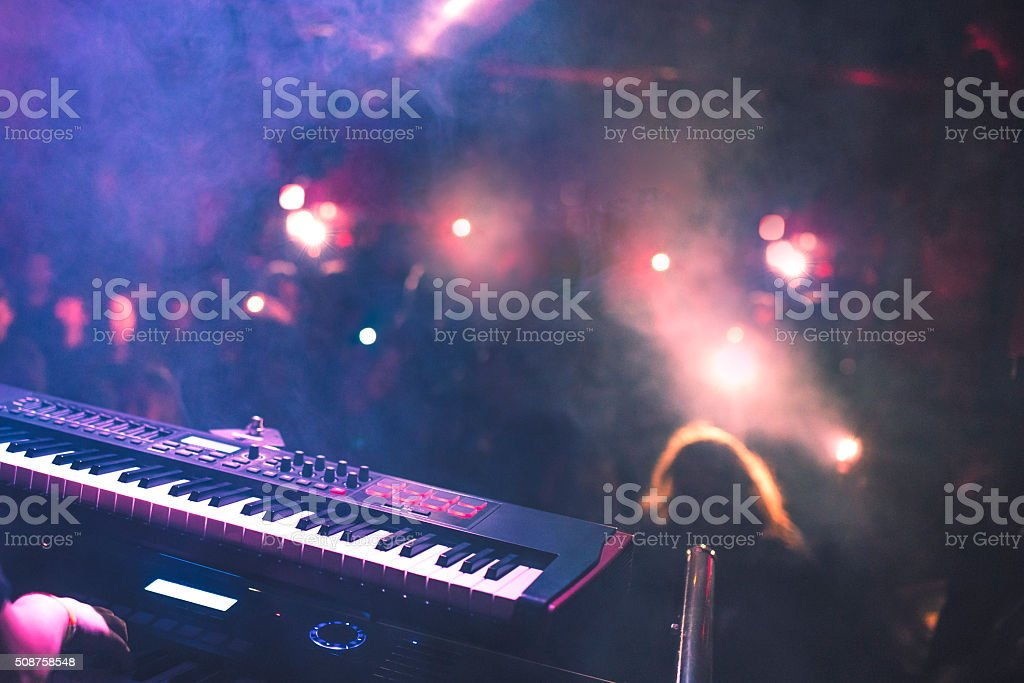 Partying in a nightclub stock photo