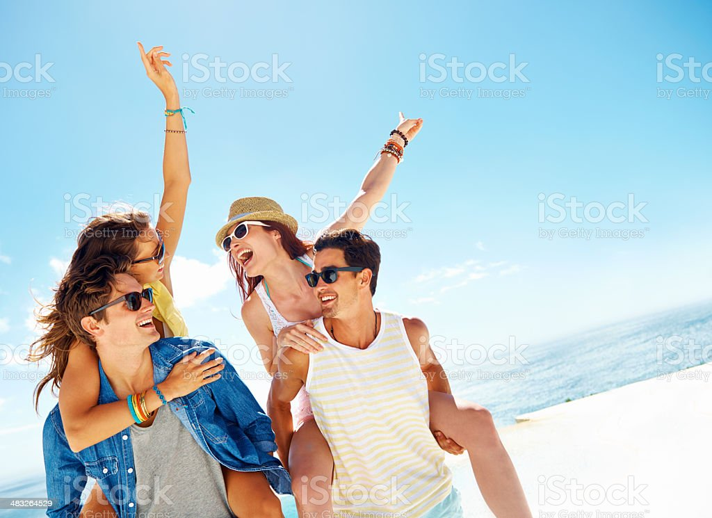 Partying in the sun royalty-free stock photo