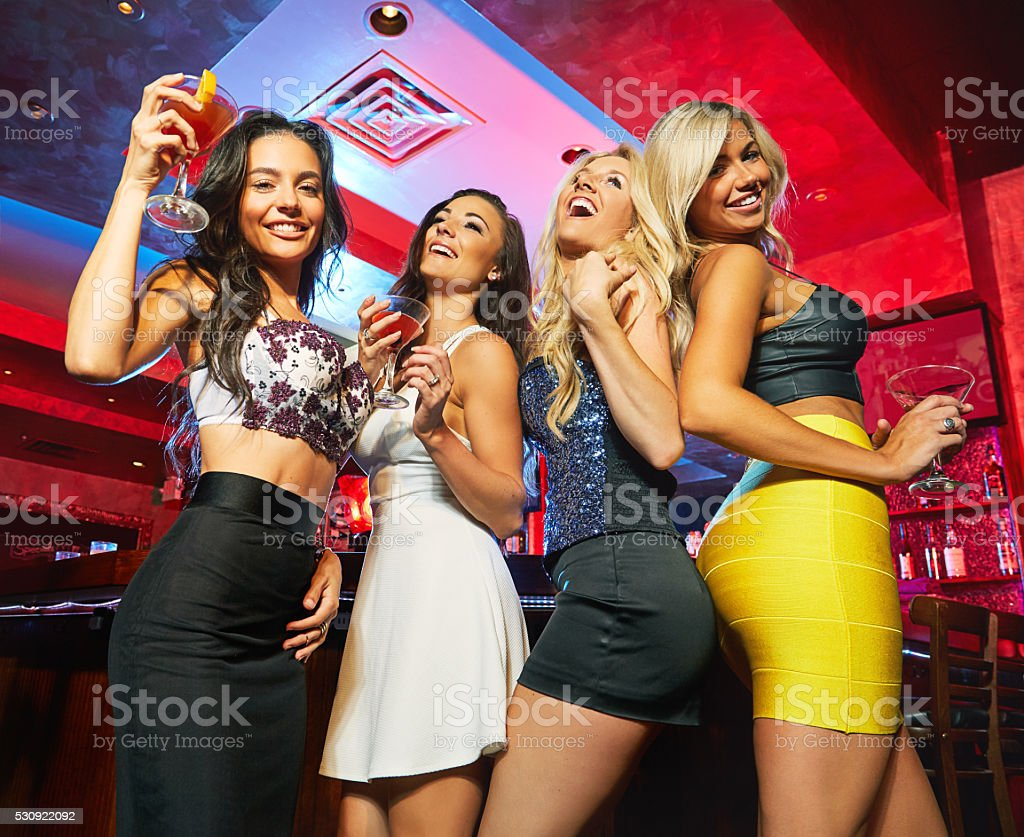 Partying up a storm stock photo