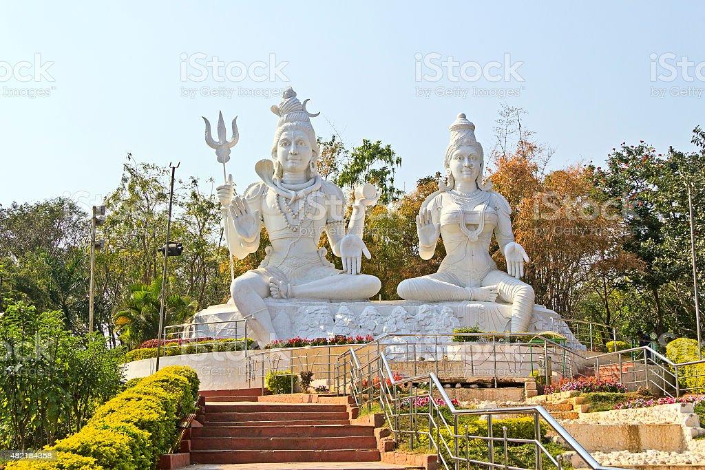 Parvati and Shiva stock photo