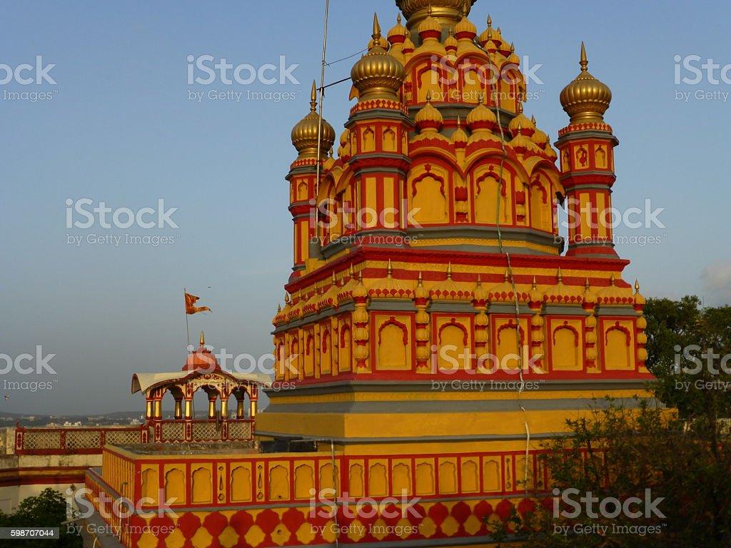 Parvati Temple tower, Pune stock photo