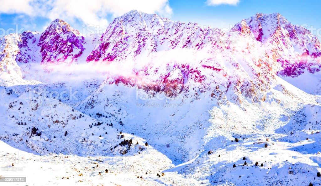 ANDORRA, Pas De La Casa , Mountain View stock photo