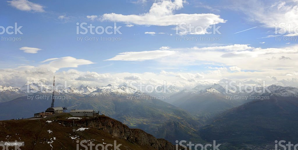 Pas de Maimbr? in Anz?re, Switzerland royalty-free stock photo