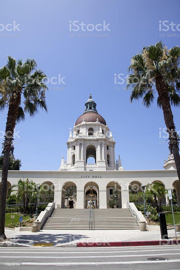 Pasadena City Hall, Los Angeles royalty-free stock photo