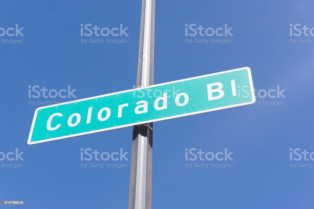 Pasadena Colorado Boulevard stock photo
