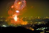 Pasadena - Fireworks Over Rosebowl
