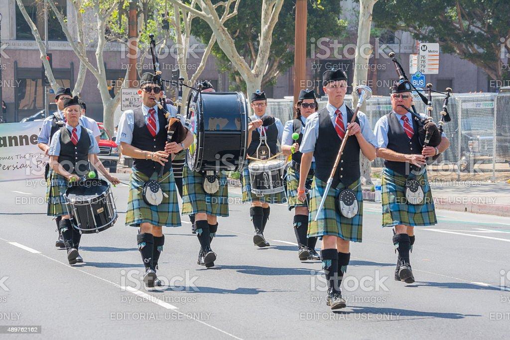 Pasadena Scots Pipes & Drums Band stock photo