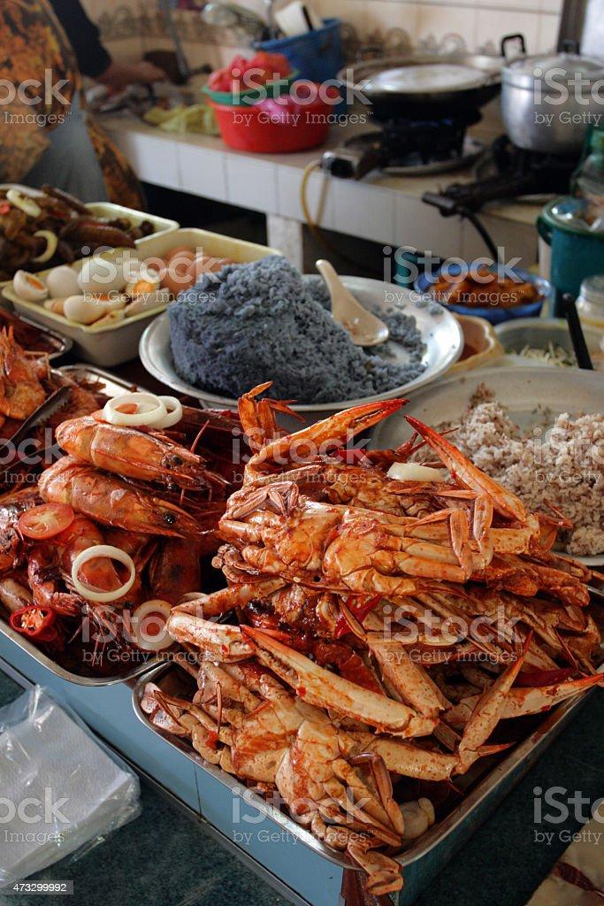 Pasar Siti Khadijah (Kota Bharu Central Market), Kelantan, Malaysia stock photo