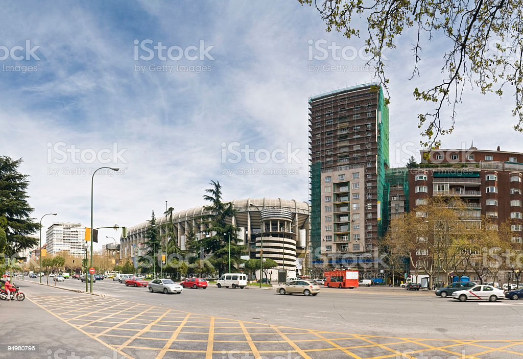 Paseo de la Castellana Madrid royalty-free stock photo