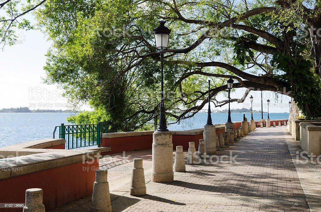 Paseo de la Princesa in Old San Juan, Puerto Rico stock photo