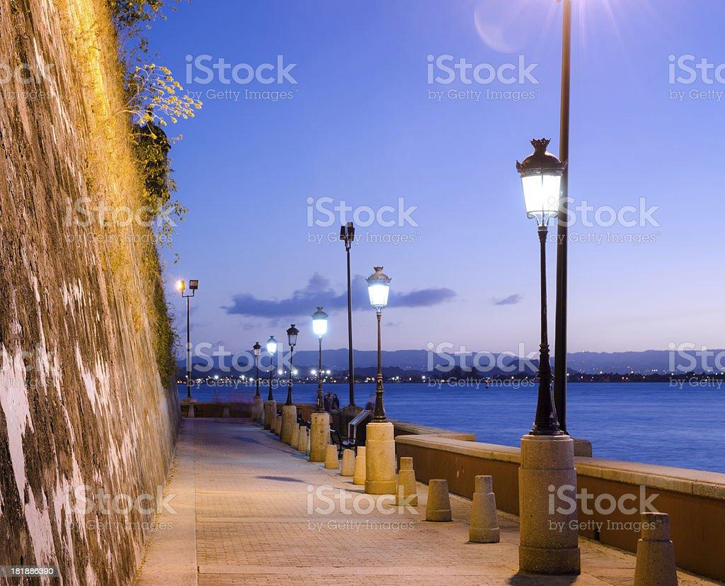 Paseo de la Princesa in San Juan, Puerto Rico stock photo