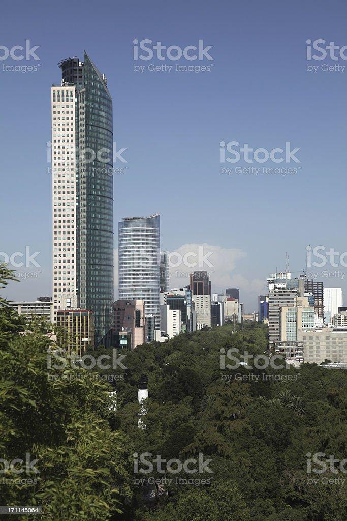 Paseo de la Reforma royalty-free stock photo