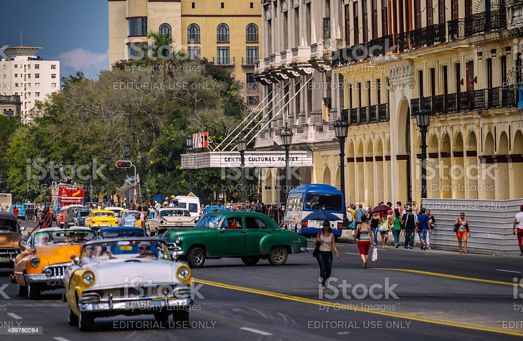 Paseo De Marti Avenue in Havana stock photo